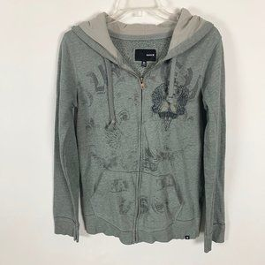 (4 @ $25) Hurley Green Zip Front Sweatshirt